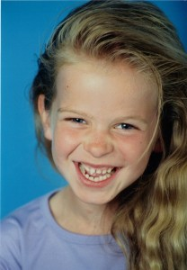 TCK Nicole Ligthart when she was younger.