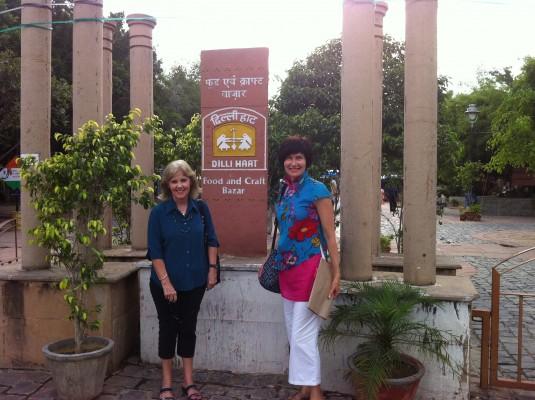 Kerry and Kathryn exploring New Delhi