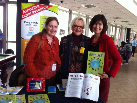 Ulrike Gemmer & Kathryn Tonges co-authors of Slurping Soup meet Dr Etty Zilber at her talk on TCK's at WAB international school Beijing