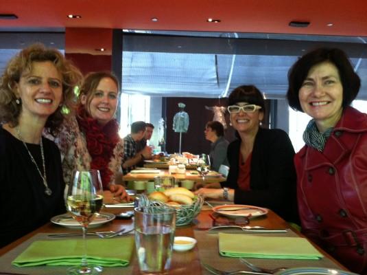 Slurping Soup author reunion in Nov 2012 Beijing - Lucinda Willshire, Ulrike Gemmer, Barbara Menezes, Kathryn Tonges